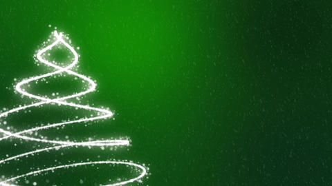Christmas Tree Background - Merry Christmas green Animation