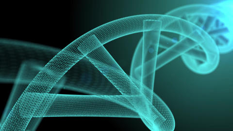 blue dna animation with bokeh blue background Animation