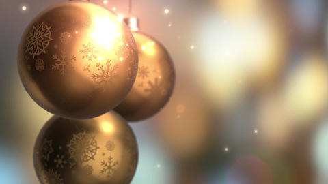 Christmas and New Year Decoration. Abstract Golden... Stock Video Footage