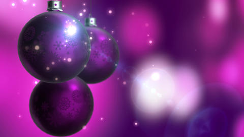 Christmas and New Year Decoration. Abstract Purple Blurred Bokeh Holiday Animation