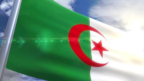 Waving flag of Algeria Animation Animation