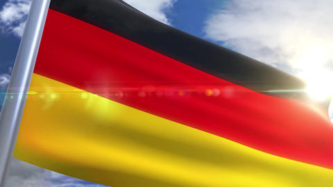Waving flag of Germany Animation CG動画