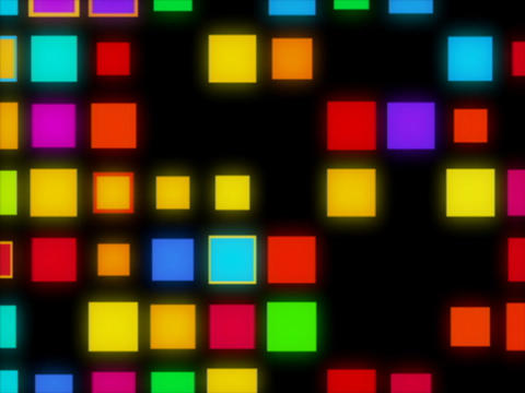 Multi Clr Square in sq puls Animation