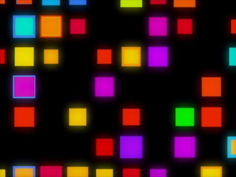 Multi Clr Square in sq puls Stock Video Footage