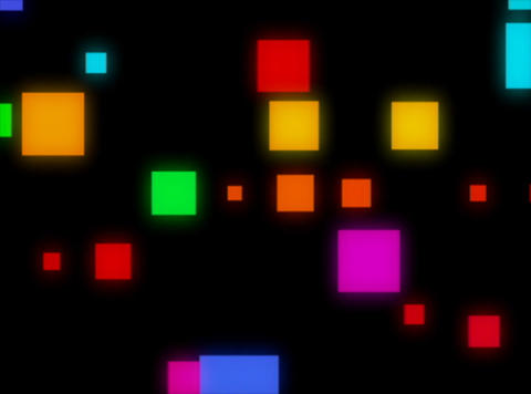 Multi Clr Squares rndm pulse Stock Video Footage