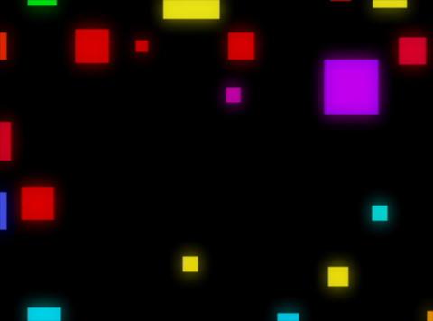 Multi Clr Squares rndm pulse Stock Video Footage