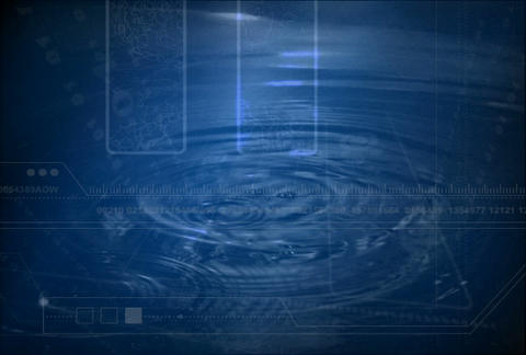 Blue Droplets w tech(L) Stock Video Footage