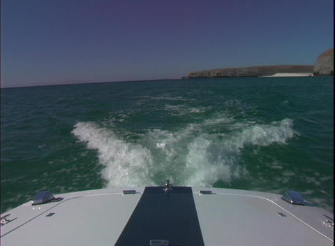 BackofBoat1 Stock Video Footage