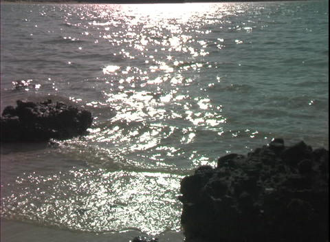 OceanShoreSun Stock Video Footage