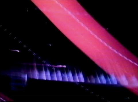 blue light streaks3 Comp 1 Stock Video Footage
