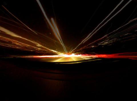 LIGHT STREAK E Comp 1 Stock Video Footage