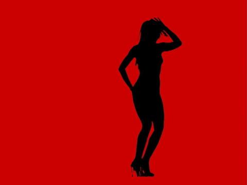 VJ Loops: Sexy Dance wide Loop2 Stock Video Footage