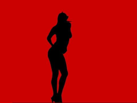 VJ Loops: Wide Shot dancer1 Stock Video Footage