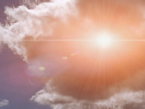 Sun Flare in Sky Stock Video Footage