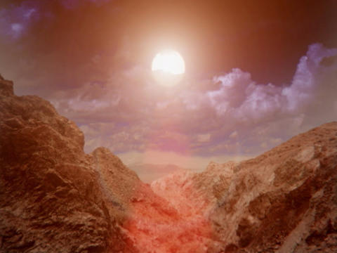 Sun Over Desert Rocks Stock Video Footage