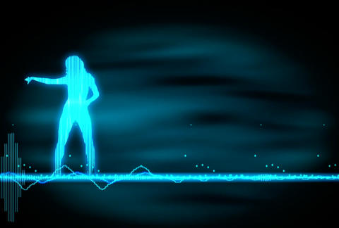 VJ Loops : Waveform Dancers DL 05 Animation