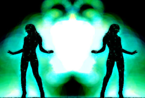 VJ Loops : Waveform Dancers DL 07 Animation