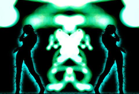 VJ Loops : Waveform Dancers DL 07 Stock Video Footage