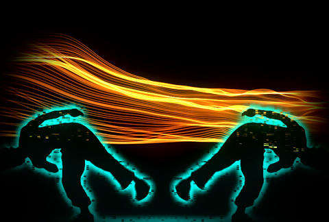 VJ Loops : Waveform Dancers DL 09 Stock Video Footage