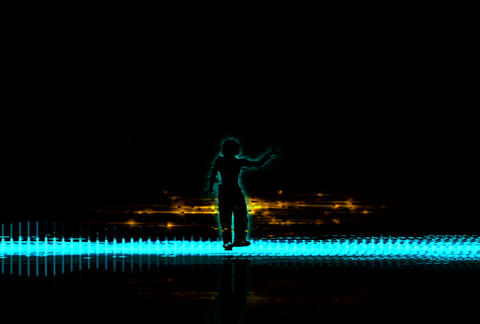 VJ Loops : Waveform Dancers DL 11 Stock Video Footage