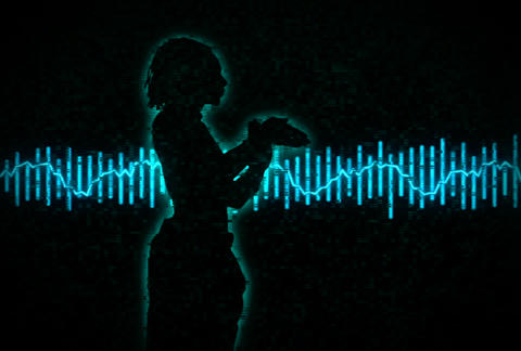 VJ Loops : Waveform Dancers DL 13 Animation