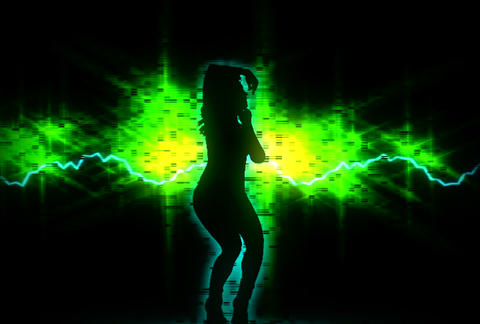 VJ Loops : Waveform Dancers DL 15 Animation