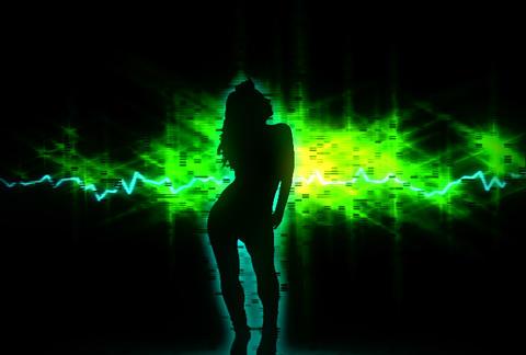 VJ Loops : Waveform Dancers DL 15 Stock Video Footage