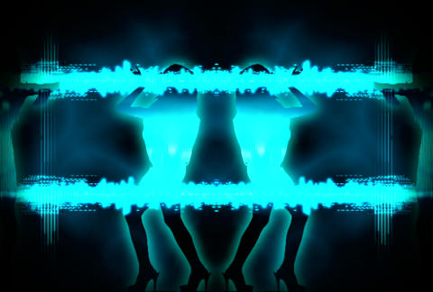 VJ Loops : Waveform Dancers DL 19 Animation