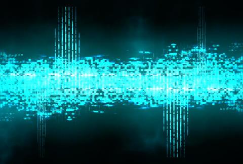 VJ Loops : Waveform 02 Stock Video Footage