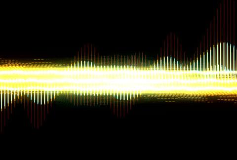 VJ Loops : Waveform 04 Stock Video Footage
