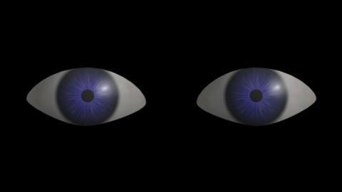 Eyes Blinking. CG. HD Stock Video Footage