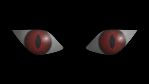 Eyes Scary. CG. HD Animation