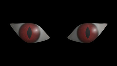 Eyes Scary. CG. HD Stock Video Footage