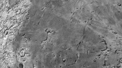 Entering Moon Surface. CG. HD Animation