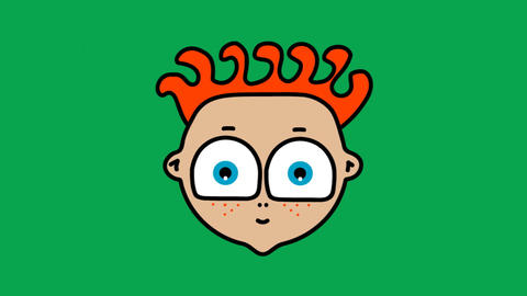 Cartoon Head Stock Video Footage