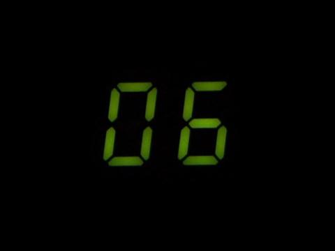 Robotic Countdown Stock Video Footage