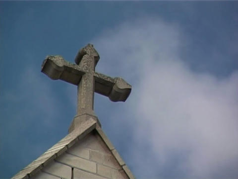 Stone Cross Stock Video Footage