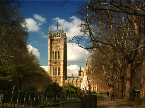 Westminster London stock footage