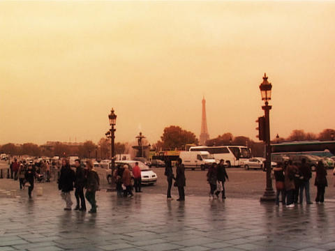 Place de la Concorde Paris Stock Video Footage