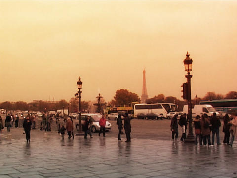 Place de la Concorde Paris Footage