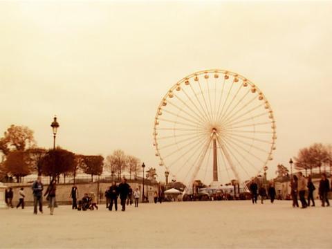 Wonder Wheel Paris Stock Video Footage