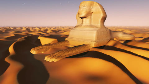 1090 Sahara Desert Sphinx stock footage