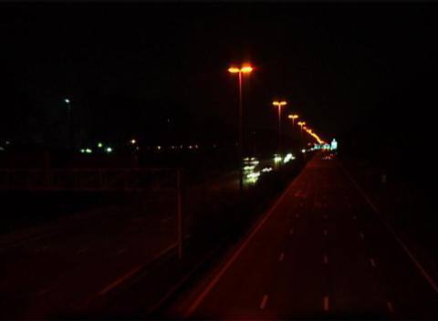 Highway Night Stock Video Footage