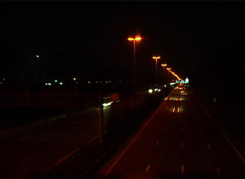 Highway Night Footage