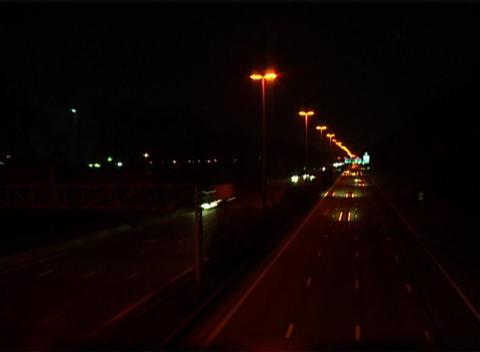 Highway Night Footage
