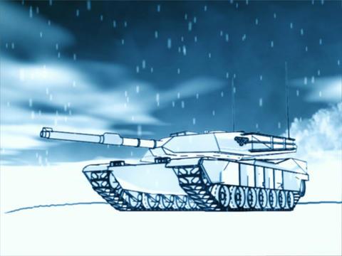 Winter Tank Stock Video Footage