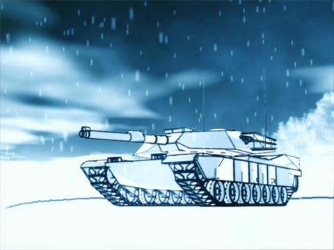 Winter Tank Stock Video Footage