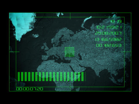 Earth Tracking System - Euro 1 Stock Video Footage