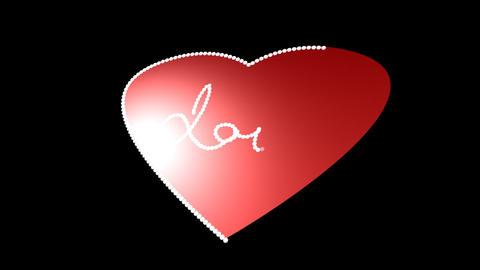 Love Heart Stock Video Footage