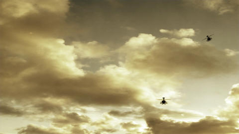 Apache Helicopters Stock Video Footage